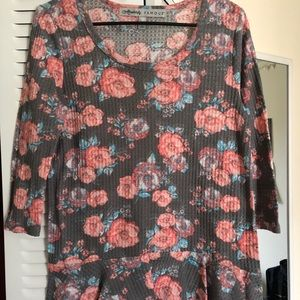 Floral flowing shirt